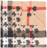 Burberry leaf checked scarf - men - Silk/Modal/Cashmere/Wool - One Size