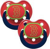 Baby Fanatic Boston Red Sox Glow in Dark 2-Pack Baby Pacifier Set - MLB Infant Pacifiers