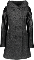 Bebe Gray Double-Breasted Wool-Blend Coat