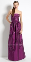 Camille La Vie Sequin Floral Taffeta Evening Dress