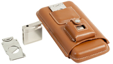Bey-Berk Leather Cigar Holder Set (3 PC)