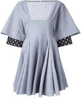 J.W.Anderson striped flared mini dress - women - Cotton/Linen/Flax - 6