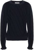 Thumbnail for your product : See by Chloe Pointelle-knit Cotton And Alpaca-blend Sweater