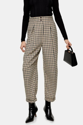 Topshop Check Ovoid Peg Pant