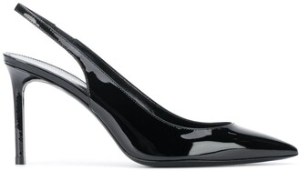 Saint Laurent Pointed-Toe Slingback Pumps