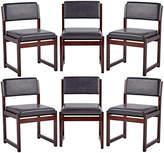 Rejuvenation Set of 6 Mid-Century Mahogany Dining Chairs