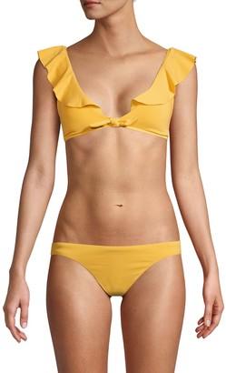 Robin Piccone Tie-Front Bikini Top