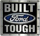 AV8America Built Ford Tough Belt Buckle, Finish, Colored Enamel Fill