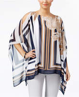 JM Collection Printed Poncho Top, Created for Macy's