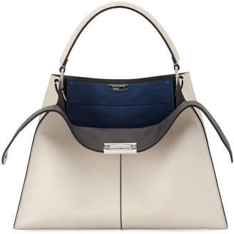 Fendi Peekaboo X-Lite Soft Calf Satchel Bag