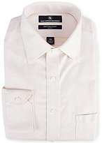 Hart Schaffner Marx Non-Iron Fitted Classic-Fit Spread-Collar Herringbone Dress Shirt