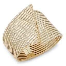 Adriana Orsini Wide Pavé Bangle Bracelet