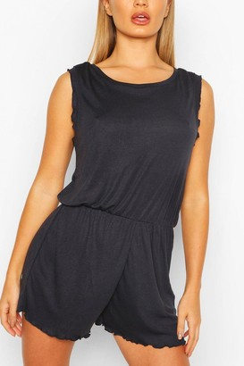 boohoo Frill Detail Scoop Neck Romper