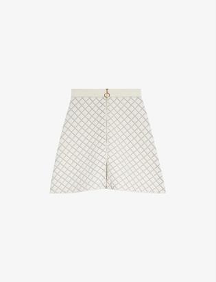 Sandro Hamyl woven mini skirt