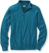 L.L. Bean Men's Cotton/Cashmere Sweater, Quarter-Zip