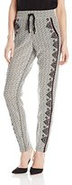 Nanette Lepore Women's Pachuco Embroidered Drawstring Waist Pant