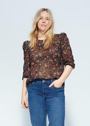 MANGO Organza flower blouse