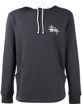 Stussy logo print hoodie - men - Cotton - XL