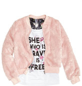 Beautees 2-Pc. Faux Fur Bomber Jacket and Tank Top Set, Big Girls (7-16)
