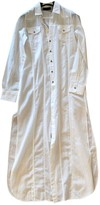 Diesel Black Gold White Cotton Dress for Women