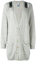 Loewe shoulder strap cardigan - women - Linen/Flax - M