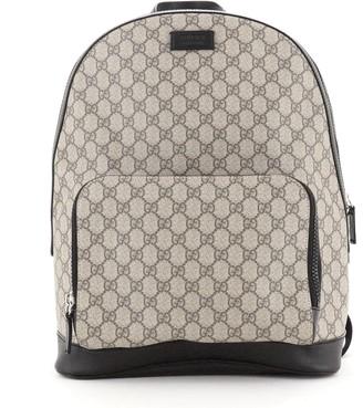 Gucci Zip Pocket Backpack GG Coated Canvas Medium