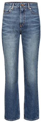 Ganni High-rise straight jeans