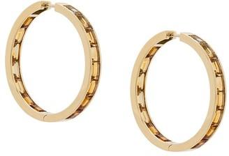 Daou 18kt gold citrine Golden hoop earrings