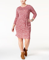 Love Squared Trendy Plus Size Twist-Front Sweater Dress