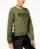 Freeze 24-7 7 7 Juniors' AC/DC Lace-Up Graphic Sweatshirt