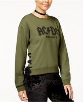 Freeze 24-7 Juniors' Ac/Dc Lace-Up Graphic Sweatshirt