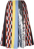 Emilio Pucci metallic detailing A-line skirt - women - Silk/Polyester/Viscose - 40
