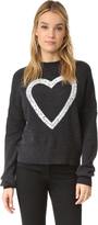 Wildfox Couture Glitz Heart Cashmere Sweater