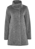 Hallhuber Brushed Wool Crop Coat