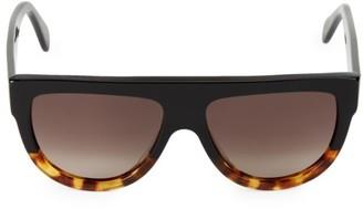 Celine 58MM Flat-Top Round Shield Sunglasses