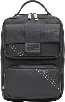 Fendi Backpack Cuoio Roma Leather Grain With 2 Pockets