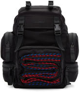DSQUARED2 Black Cross Country Backpack