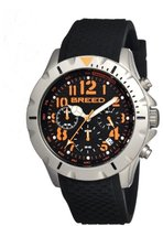 Breed Men's BRD3603 Sergeant Black Silicone Chronograph Watch with Date Display
