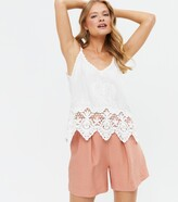 Thumbnail for your product : New Look Crochet Scallop Hem Cami