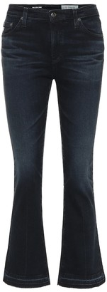 AG Jeans The Jodi Crop high-rise flared jeans