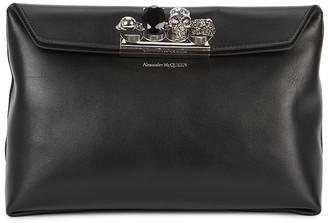 Alexander McQueen Black Embellished Leather Clutch