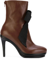 A.F.Vandevorst bow front ankle boots