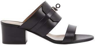 Hermes Black Leather Mules & Clogs