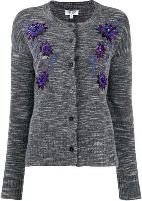 Kenzo Floral Embroidered Cardigan