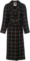 I'M Isola Marras checked belted coat