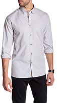 Ted Baker Long Sleeve Patterned Trim Fit Shirt