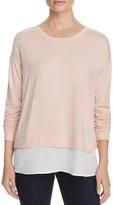 Calvin Klein Layered-Look Split Back Sweater - 100% Bloomingdale's Exclusive