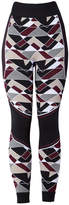 Sweaty Betty Vienoisserie Seamless Base-Layer Legging in Oxblood Print