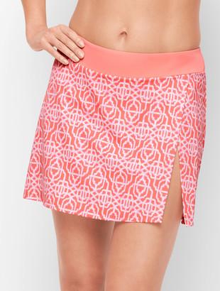 Talbots Cabana Life Vented Swim Skirt - Coral Lattice