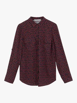Oasis Heart Print Shirt, Blue/Multi